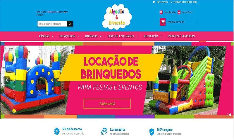 E-COMMERCE | LOCAÇÃO DE BRINQUEDOS E FESTAS