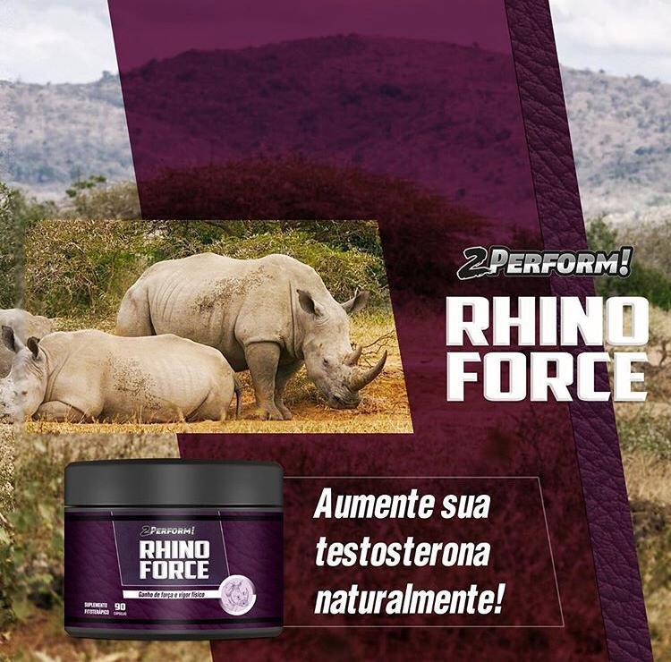 Estimulante de Testosterona Natural Fitoterápico Rhino Force