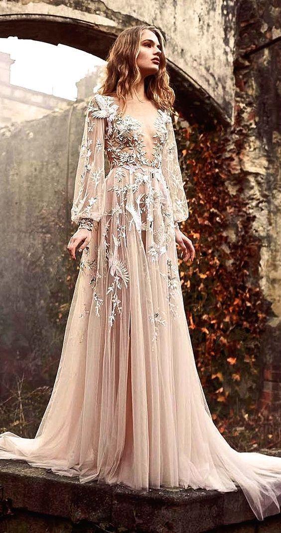 0917419b7db7 VESTIDO NUDE MANGA LONGA TULE E RENDA K GTYRSS2HB - Livia Fashion ...