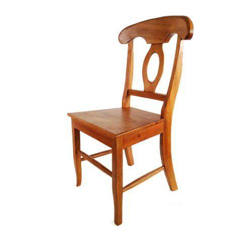 Cadeira Em Madeira De Demolição Anatômica
