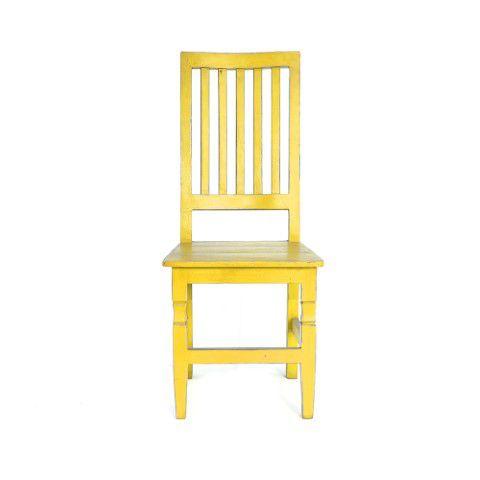 Cadeira Em Madeira de Demolição Colorida