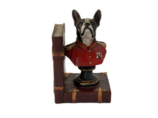Suporte para Livros Bulldog Francês em Resina