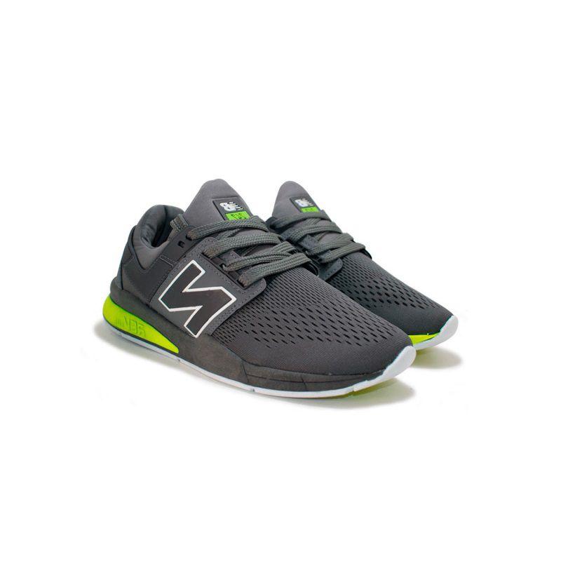 Tênis New Balance 247 Cinza com Verde - BOOTS Calçados