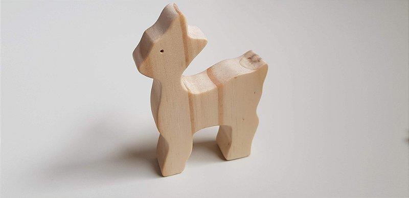 Cervo de madeira - Animais de madeira