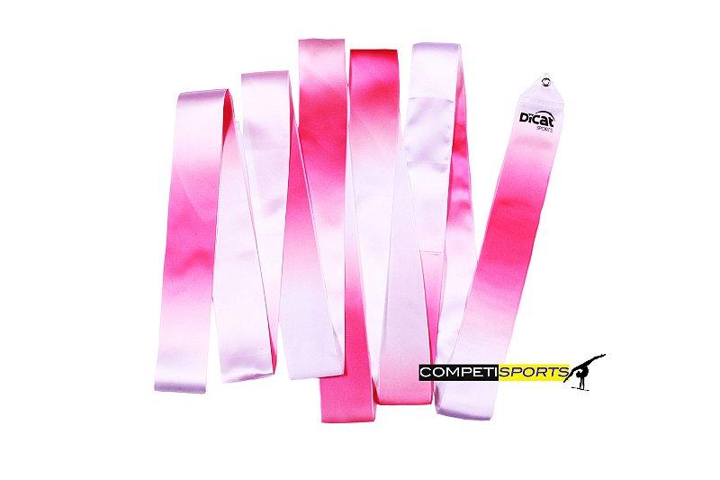 Fita para Ginástica Rítmica Mescla Rosa e Branco