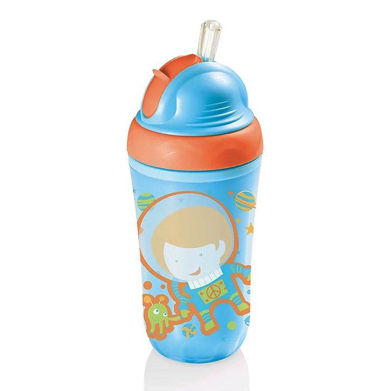 Copo Térmico Com Canudo  Azul 24M+ Multikids Baby - BB034