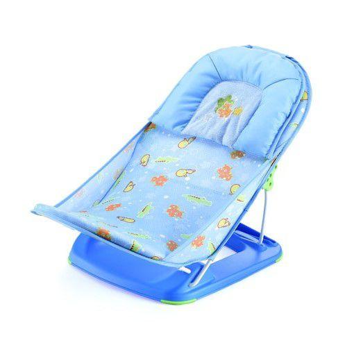 Assento Flexível Redutor para Banheira - Azul Animais