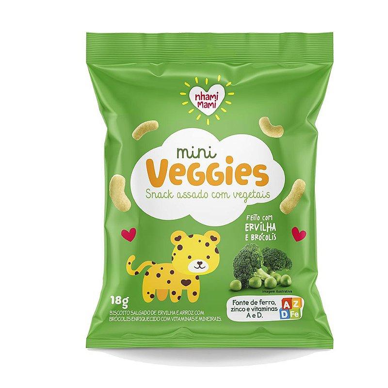 Mini Veggie Snack Integral - Ervilha e Brócolis 6 Unidades 18g
