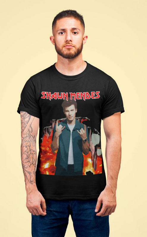 Camiseta Shawn Mendes Heavy Metal