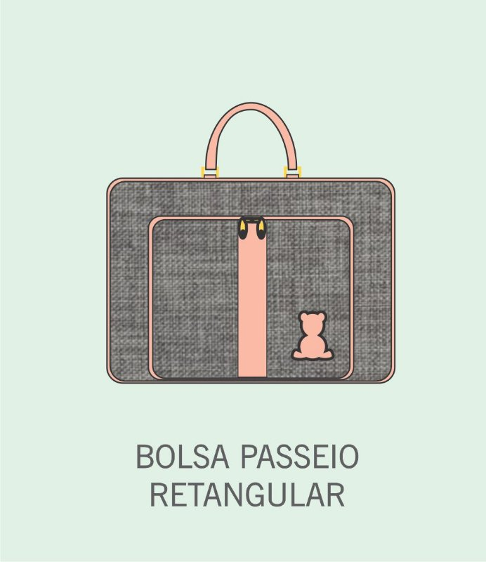 Bolsa Passeio Bebê Retangular
