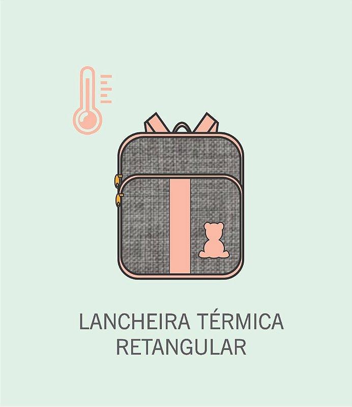 Mochila Lancheira Térmica Retangular