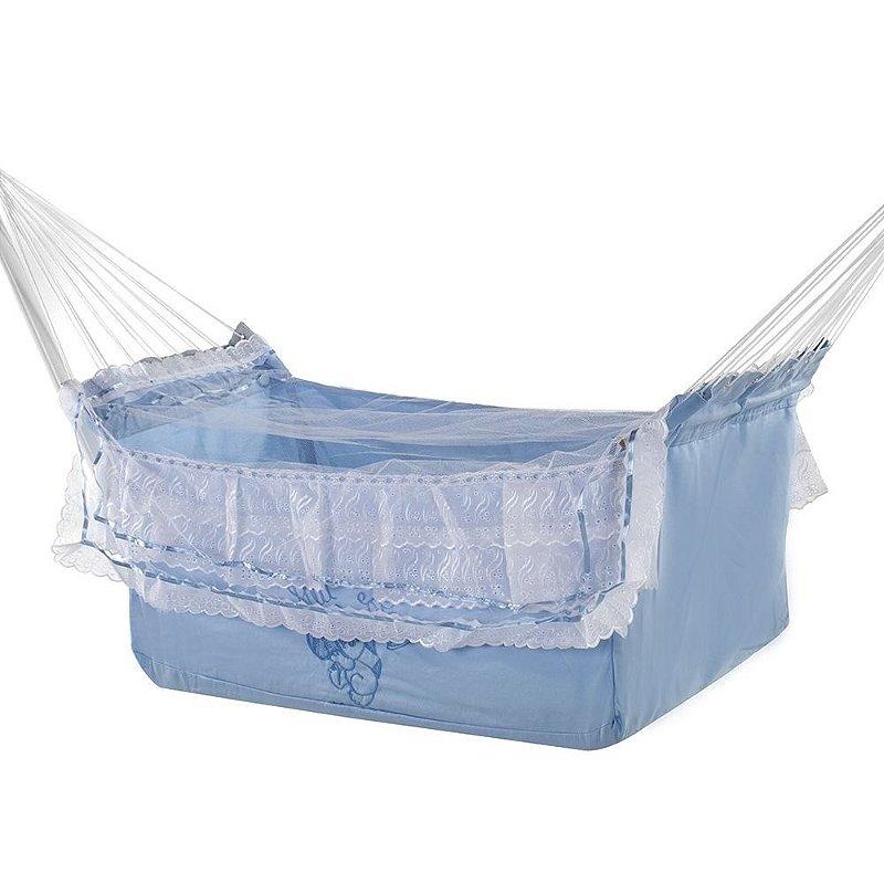 Rede de Dormir Infantil Berço Azul Bebê