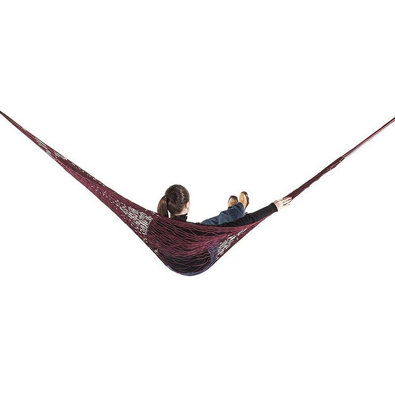 Rede de Dormir e descanso Camping Nylon Impermeável Vinho