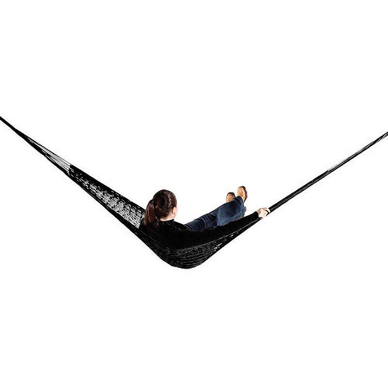 Rede de Dormir e descanso Camping Nylon Impermeável Preto
