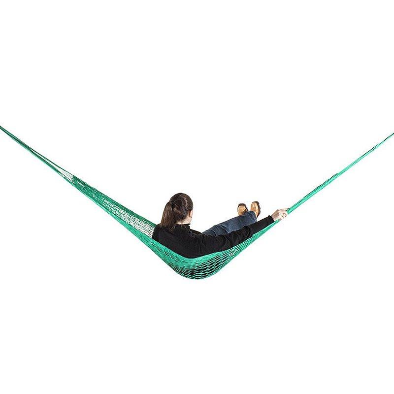 Rede de Dormir e descanso Camping Nylon Impermeável Verde Bandeira