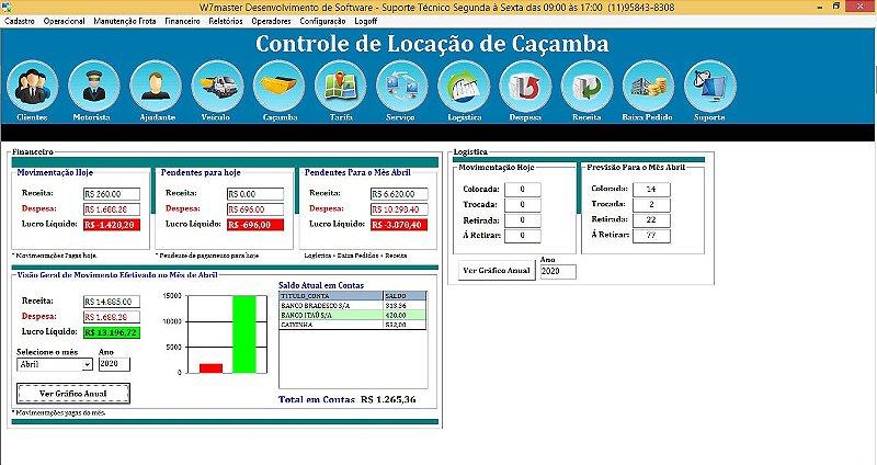Sistema SLD Entulho 5.0 - Licença para 3 Computadores