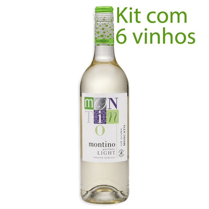 Kit com 6 Vinhos Branco Montino Natural Light