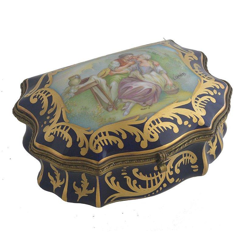 Caixas de porcelana com bronze , Francesas , coleção
