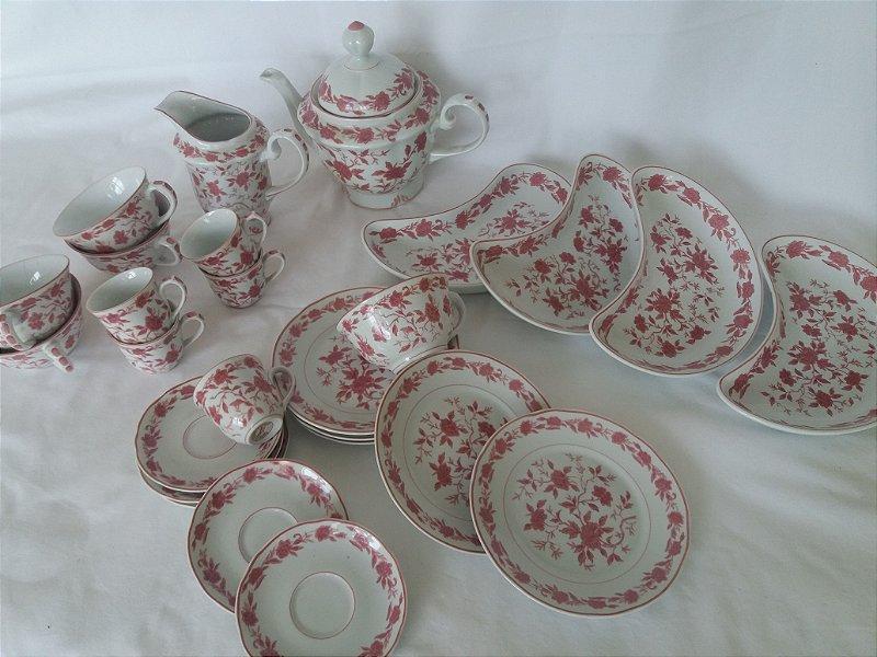 Conjunto de chá e café porcelana importada