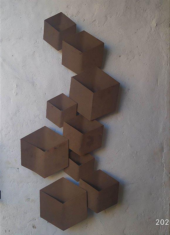 Escultura Cubos , ferro ferrugem , 1,32 x 50