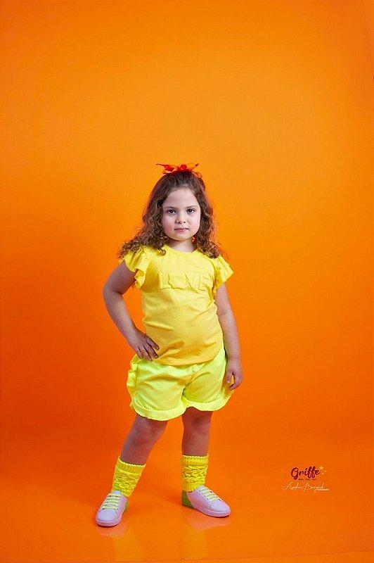 Blusinha Amarela  neon