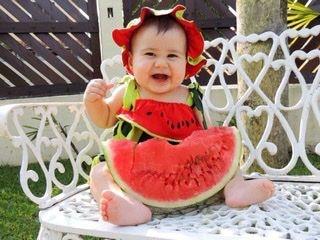 Macacão melancia baby