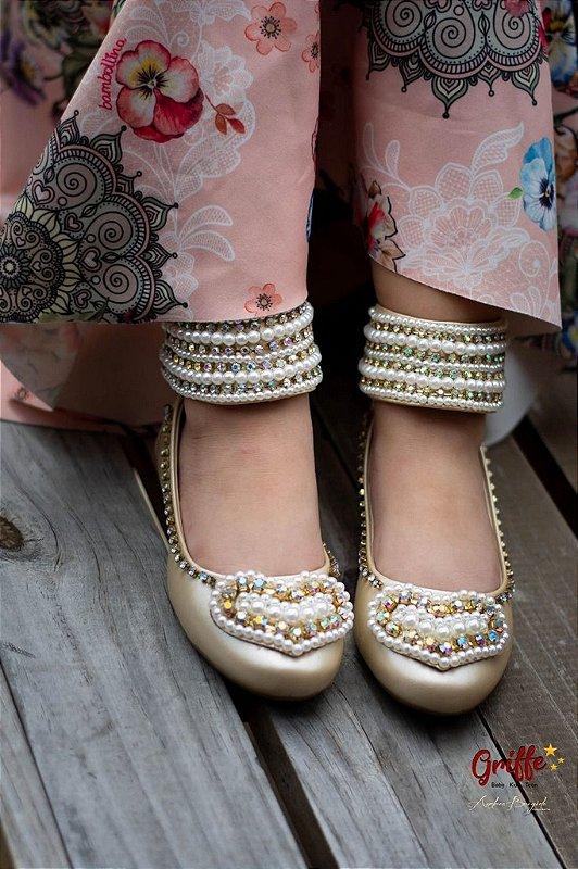Sapato de Couro Coração