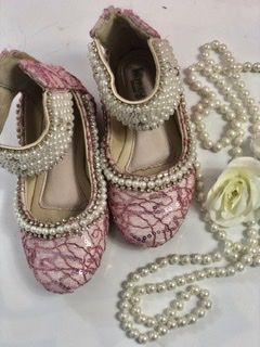 Sapato de Couro Rosa