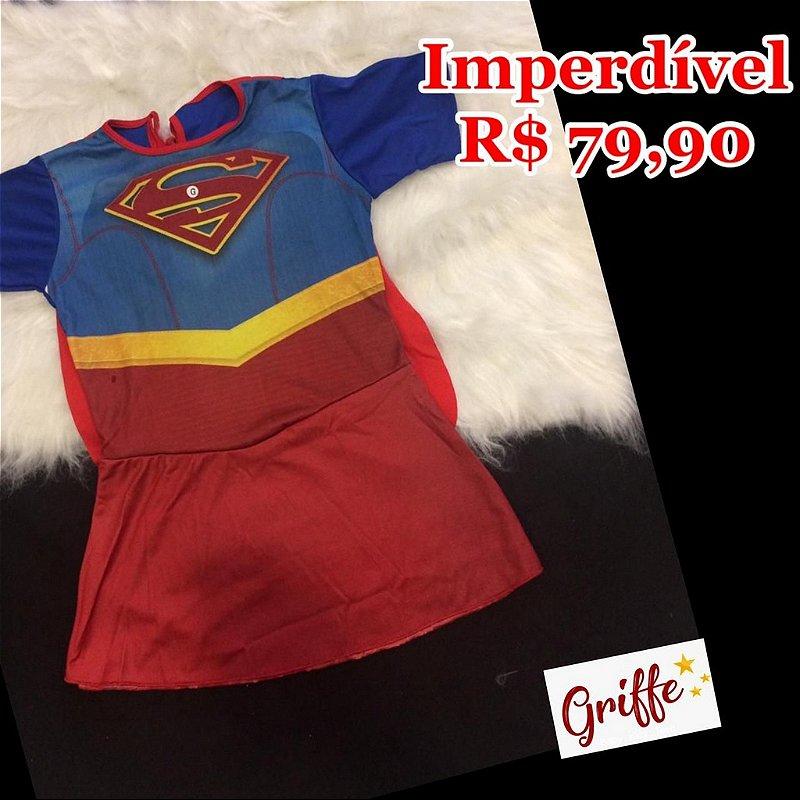 Vestido Fantasia Super Girl