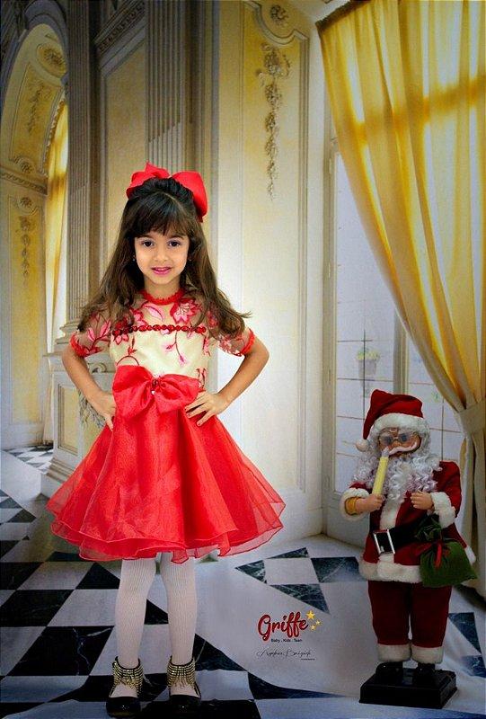 Vestido Vermelho Pedrarias