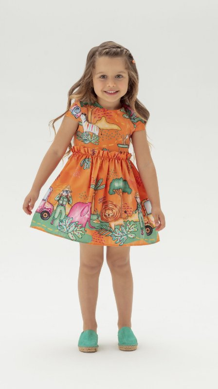 Vestido Orange Jungle