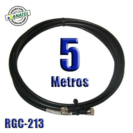 KIT INTERLIGAÇÃO RGC-213 DE 5 METROS NMACHO X NMACHO