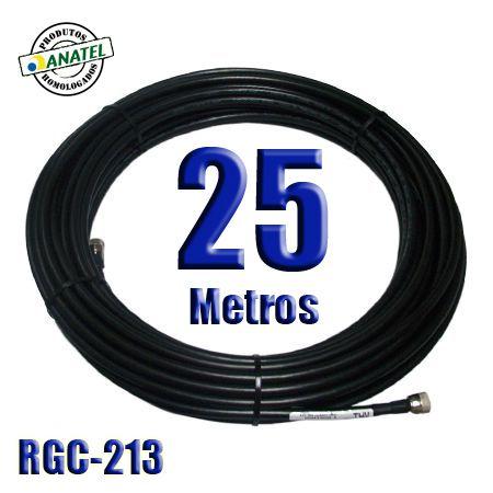 KIT INTERLIGAÇÃO RGC-213 DE 25 METROS N MACHO X N MACHO