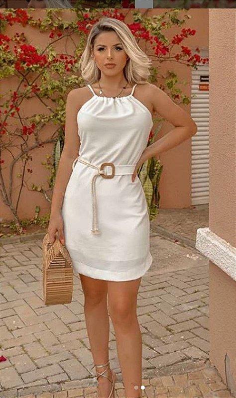Vestido Curto AIR FLOW com cordas naturais - Amicia Fashion