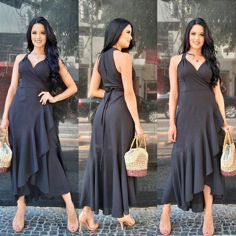Vestido Longo Envelope Janaina