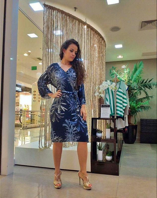 Vestido Midi Cashecouer Folhagem Outono - Viviane Furrier