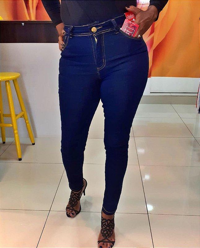 Calça Skinny Cintura alta Jeans classico azul