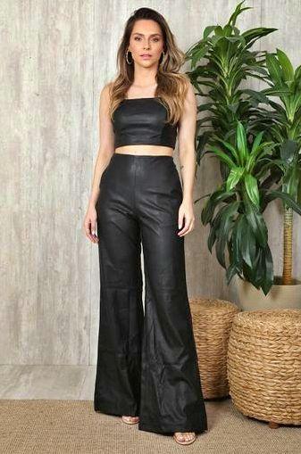 Conjunto Pantalona Leather Ave Rara