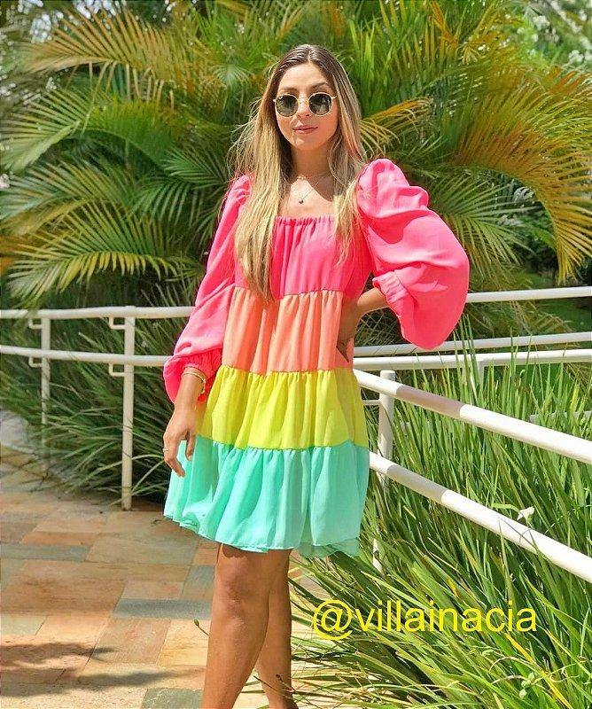 Vestido Curto Serafina Color Neon