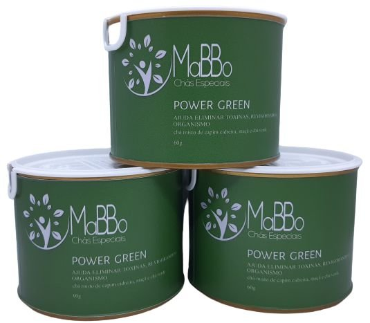 Chá Power Green lata