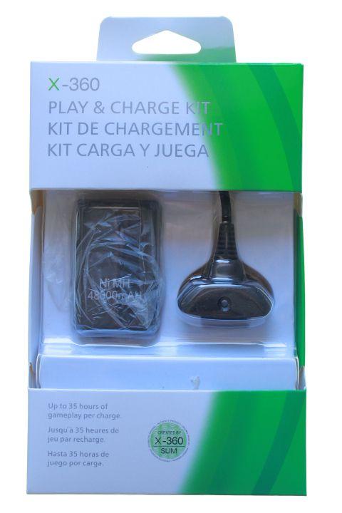 Kit Carregador e Bateria 4800 mAH para XBox 360