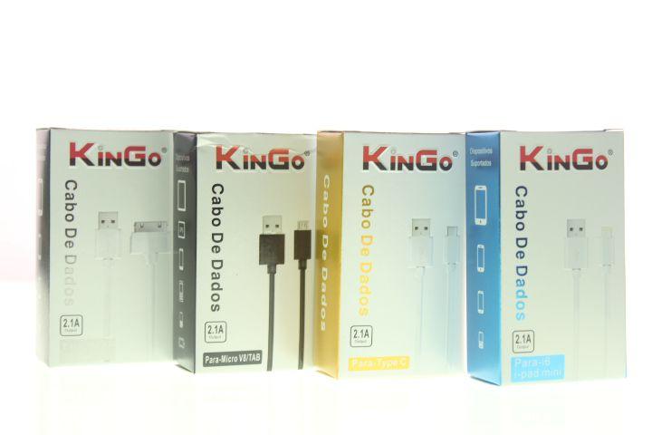 Cabo de Dados Kingo USB-iPhone 4-4s-IPad2-3 Um Metro