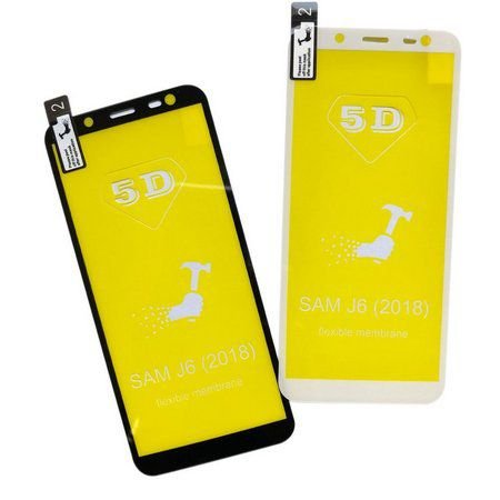 Película Flexível Especial Gel Silicone 5D Borda Branca para Celular