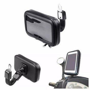 Suporte para Celular-GPS Capa À Prova D'água Até 6.3 Polegadas Encaixe Moto
