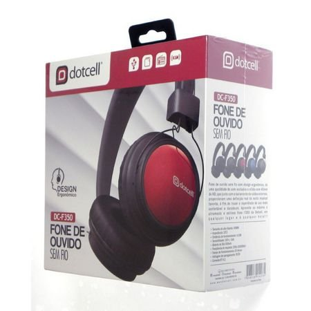 Fone de Ouvido Bluetooth Headfone Sem Fio Dotcell DC-F350