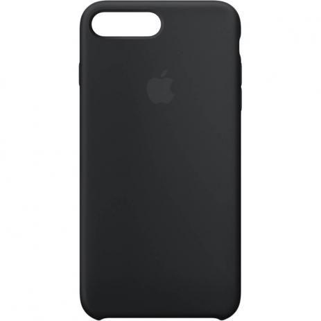Capinha de Celular iPhone 7 Plus / 8 Plus Silicone Cor Preta