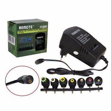 Fonte Alimentação Regulada Universal 3.5A Remote Yc668 Receptores
