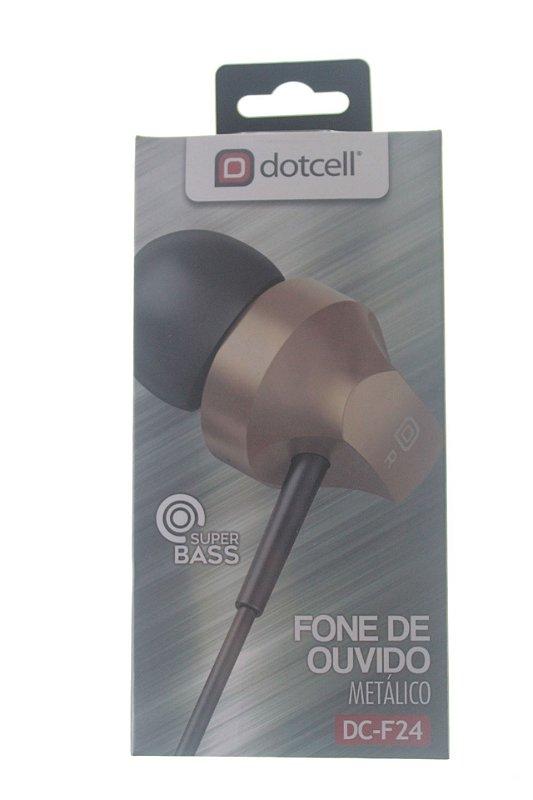 Fone P2 Dotcell DC-F24 Dourado (Metalizado)