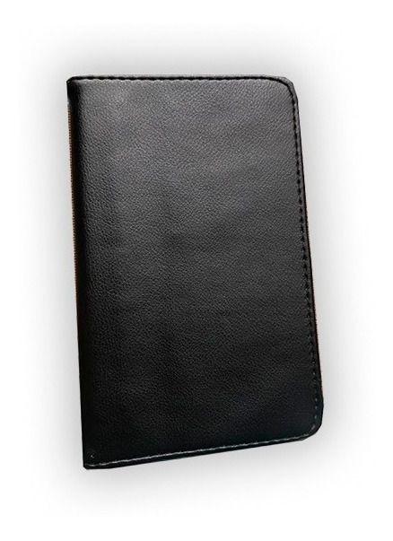 Capa Pasta Couro Sintético Preta para Tablet Samsung SM-T290