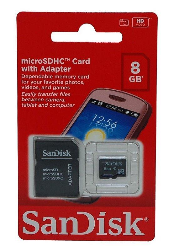 Cartão de Memória Sandisk Micro SD 8Gb